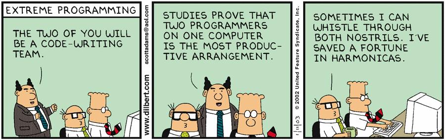 l'Extreme Programming secondo Dilbert